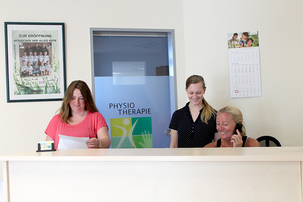 Empfang Physiotherapie Wiest