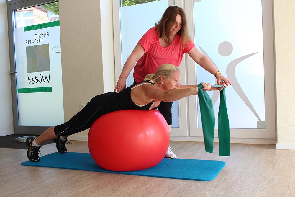 Übung Rücken Pezziball